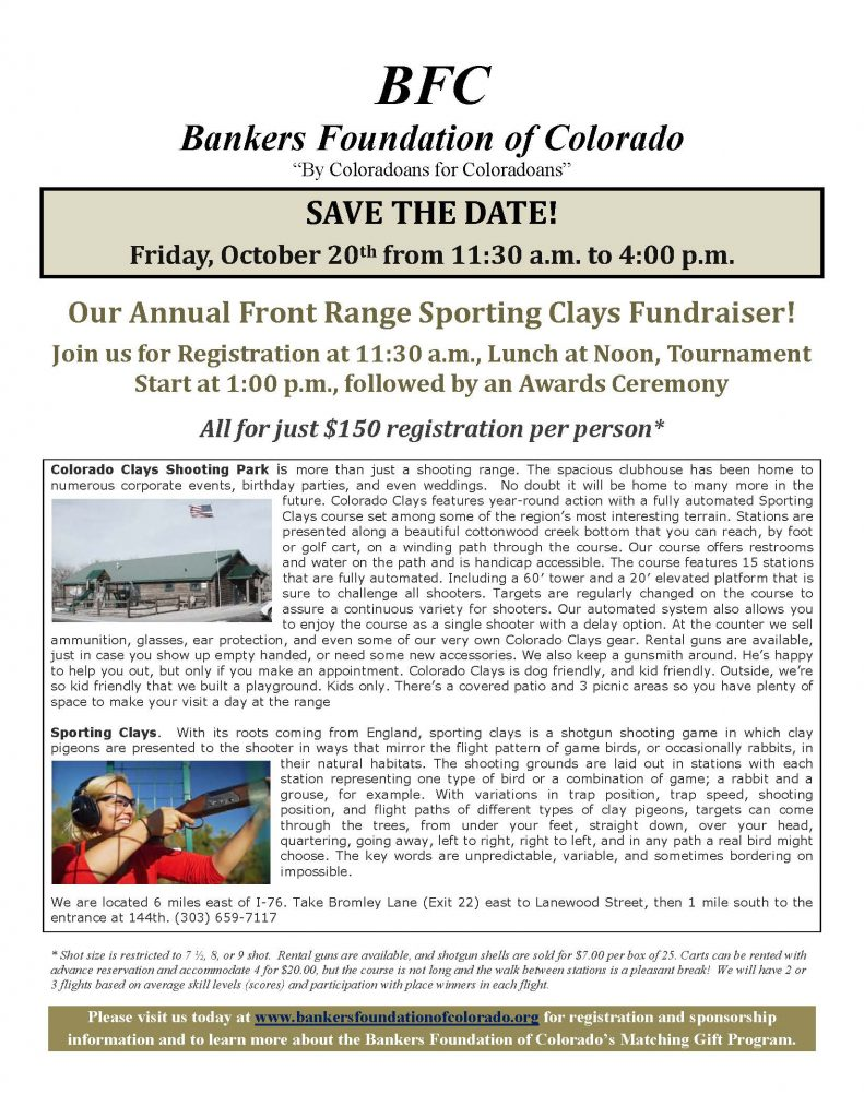 2017 SportingClaysTournament SaveTheDate (9-2017)