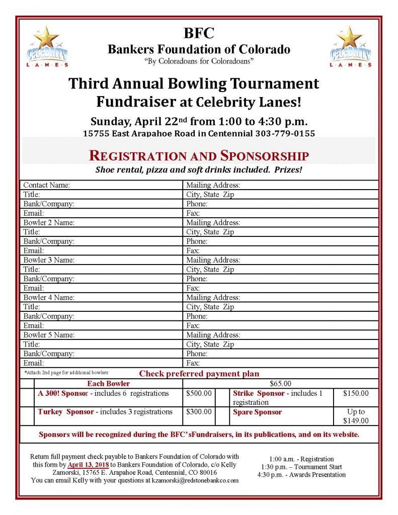 Registration Form - Bowl-A-Thon (2018)